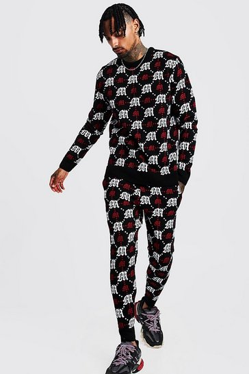 9d13423e70 Gothic M All Over Print Knitted Jumper & Jogger Set