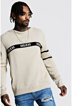 Herr Taupe Gothic MAN Regular Fit Jumper