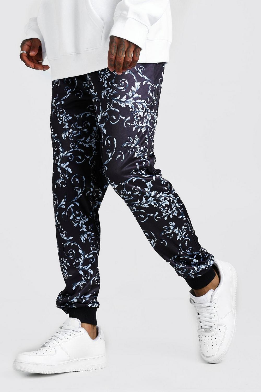 Slim Fit Baroque Joggers by Boohoo