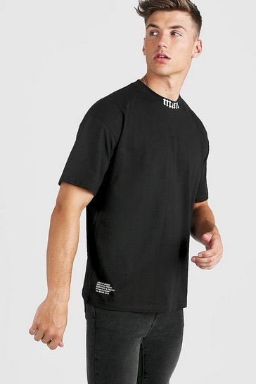 Black Gothic MAN Oversized Extended Neck T-Shirt