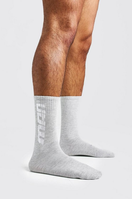 Grey Gradient MAN 1 Pack Sport Socks