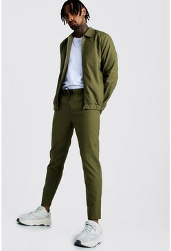 Mens Khaki Coach Jacket And Jogger Twinset