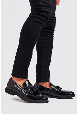 Black PU Patent Leather Loafer