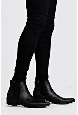 Black Chelseaboots i westernmodell
