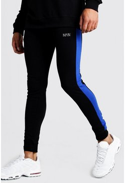 Herr Black MAN Super Skinny Fit Jogger With Side Panels