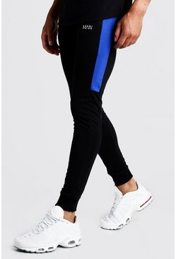 Herr Black MAN Super Skinny Jersey Jogger With Side Panels