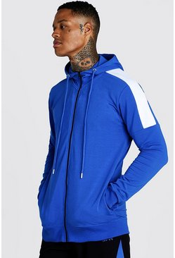 Cobalt MAN Skinny Fit Zip Through With Side Panels