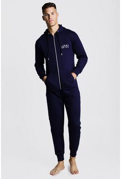 Mens Navy MAN Dash Onesie