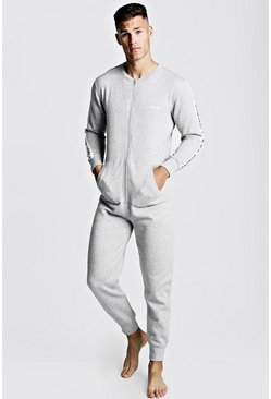 Grey MAN Tape Onesie