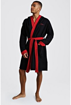 Black MAN Red Embroidered Robe