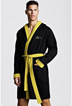 Black MAN Gold Embroidered Robe