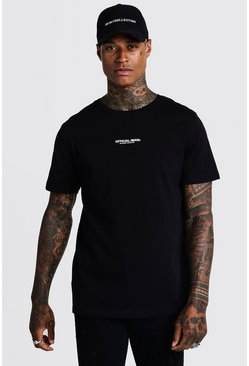 Herr Black MAN Official Longline T-Shirt With Drop Tail