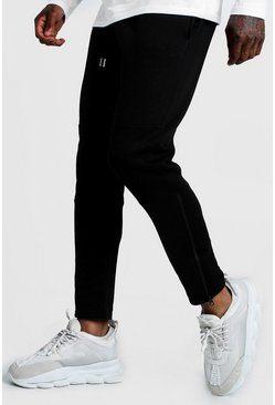 Black Original MAN Biker Jogger With Ankle Zips