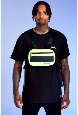 Herr Neon-green Deno Driz Harness Bag With Rubber Branding