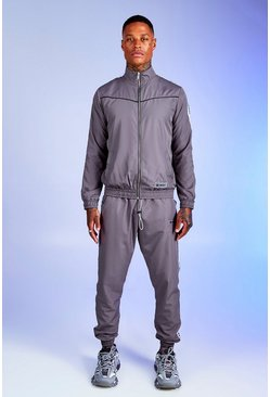 Herr Slate Deno Driz Shell Tracksuit With MAN Tape