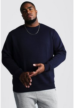 Herr Navy Big & Tall - Basic sweatshirt