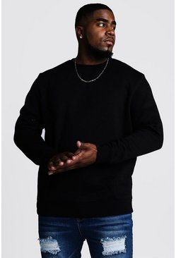 Black Big and Tall Basic Sweater