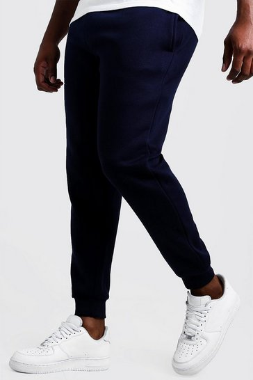 Mens Navy Big and Tall Basic Skinny Fit Jogger