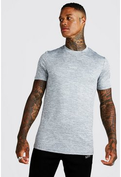 Mens Grey MAN Active Marl T-Shirt