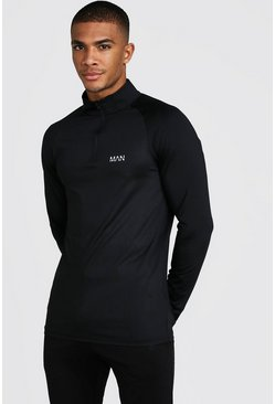 Herr Black MAN Active Funnel Neck Top