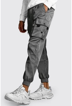 Mens Silver Smart Utility Jogger