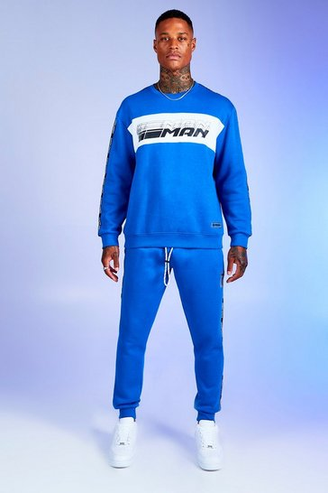 Mens Cobalt Deno Driz Tracksuit With MAN Tape