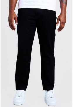 Mens Black Big & Tall Slim Fit Rigid Jean