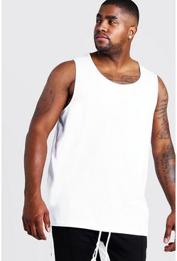 Mens White Big and Tall Basic Vest