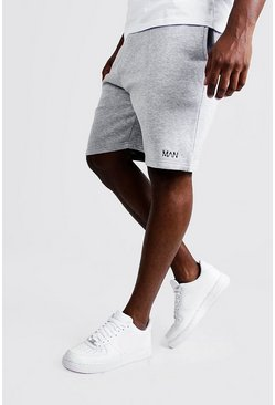Mens Grey marl Big and Tall MAN Dash Skinny Fit Shorts