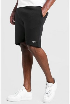 Black Big & Tall - MAN Dash Shorts i skinny fit