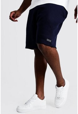 Mens Navy Big and Tall MAN Dash Skinny Fit Short