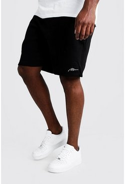 Shorts Skinny con bordados MAN Big & Tall, Negro, Hombre