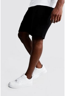 Mens Black Big and Tall Basic Skinny Fit Jersey Short