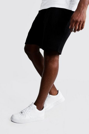 Black Big and Tall Basic Skinny Fit Jersey Short