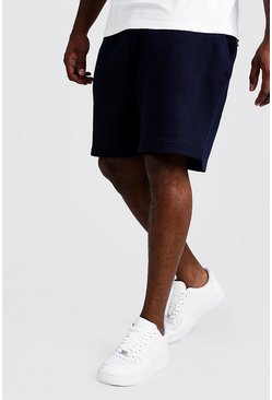 Mens Navy Big and Tall Basic Skinny Fit Jersey Short