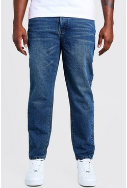 Big & Tall Steife Slim Fit Jeans, Vintage-waschung