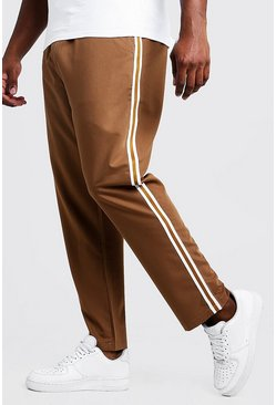 Tobacco Big & Tall Skinny Fit Woven Side Tape Jogger