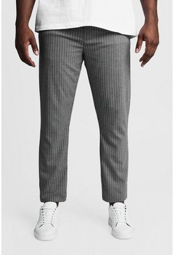 Herr Charcoal Big & Tall Woven Pinstripe Jogger
