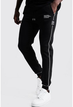 Herr Black New Season MAN Joggers i slim fit