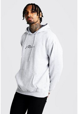 Herr Grey MAN Signature Loose Fit Over The Head Hoodie