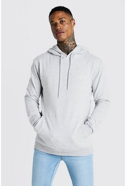 Mens Grey MAN Signature Muscle Fit OTH Hoodie