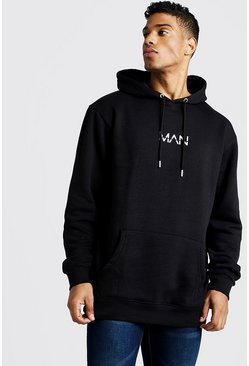 Sweat à capuche long à enfiler Original MAN, Noir, Homme