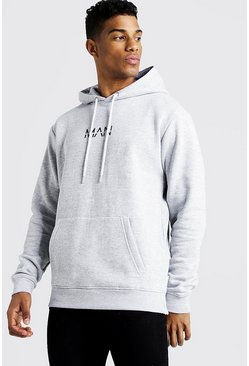 Grey Original MAN Hoodie i fleece