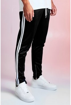 Mens Black MAN Design Tricot Jogger