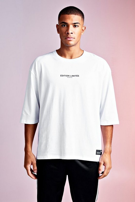 Camiseta Edition Limited MAN, Blanco, Hombre