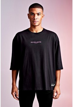 Camiseta Edition Limited MAN, Negro, Hombre
