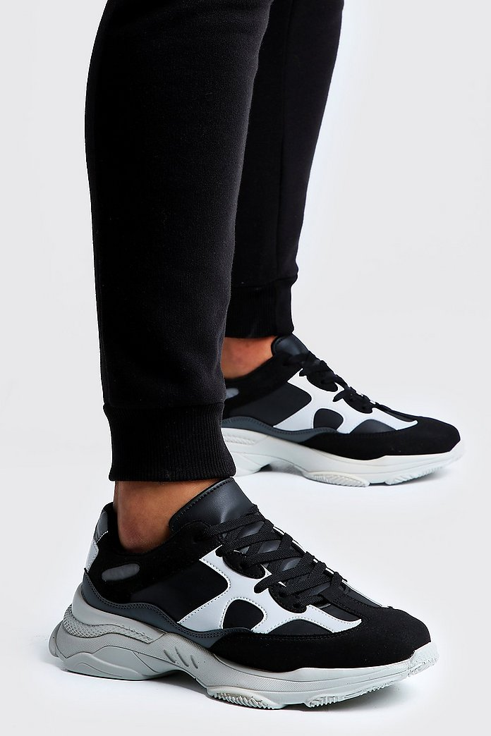hot sale online fe000 f05c2 Mono-Colorblock-Sneaker mit dicker Sohle - boohooMAN