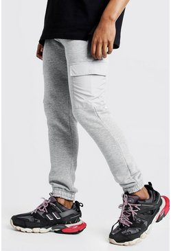 Grey MAN Signature Jogger With Nylon Pockets
