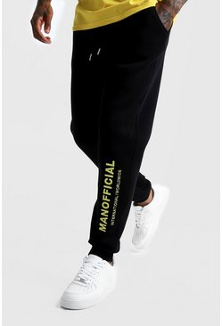 Black MAN Official 3D Embroidered Jogger
