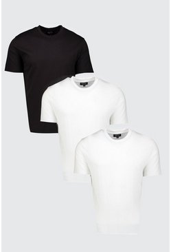 Lot de 3 t-shirts longs, Multi, Homme